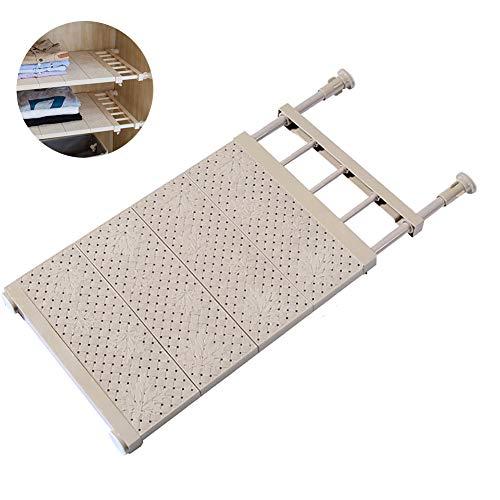 Xiton 1PC Adjustable Regal Schrank Storage Rack Organizer Erweiterbare Schrank Regal Space Saver Racks für Küchenschrank (beige) -