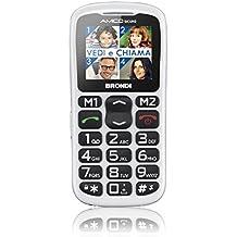 Brondi Amico Sicuro Telefono Cellulare, Bianco