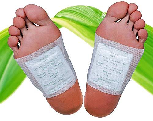 20 Stück Fuß-Pflaster Bambus, Vitamin-C Pflaster Fusspflaster für die Nacht mit Qualitativ hochwertigem Turmalin 100% natürlich, Fuß-Pads 20 Stück -
