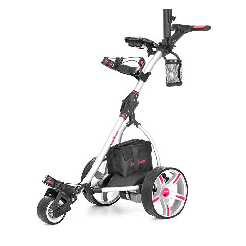 Caddymatic V2 Electric Golf Trolley/Cart with Upgraded 36 Hole Battery -Silver