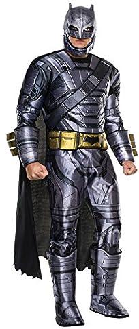 Batman v Superman Costume, Mens Deluxe Batman Armored Outfit, X-Large, CHEST 44 - 46