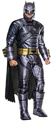 BATMAN v SUPERMAN Batman-Panzer-Outfit für Herren, Größe XL, Brustumfang: 111,8-116,8cm, Taille: 91,4-101,6cm, Beininnenlänge: 83,8cm