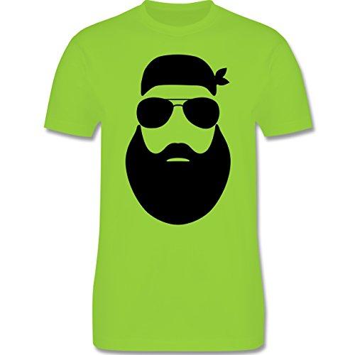 Motorräder - Biker Silhouette - Herren Premium T-Shirt Hellgrün