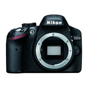 Nikon D3200 Digital SLR Camera Body Only - Black (24.2MP) 3 inch LCD