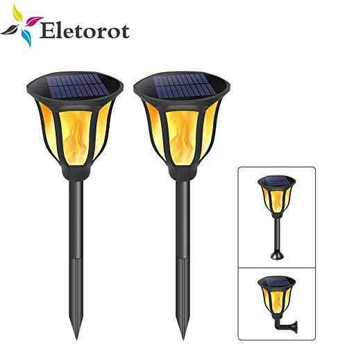 LED Solar Flame Flickering Lawn Lampe Realistic Dancing Flame Light wasserdichte Outdoor Solar Panel Garden Decor Flamme Lampe -