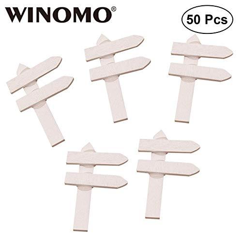 Shoppy Star WINOMO 50 Etiquetas de jardín Creativas y duraderas, Etiquetas de Madera para decoración de casa, Flores