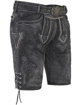 Michaelax-Fashion-Trade Spieth & Wensky - Herren Trachten Lederhose mit Gürtel, Eichel (270665-1070)