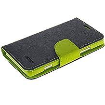 Xperia SP Fundas,COOLKE [Navy] Dos Colores Funda Carcasa Cuero Tapa Case Cover Para Sony Xperia SP M35h