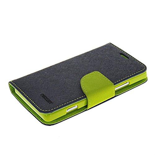 Xperia SP Hülle,COOLKE Mode Zwei Farben magnetische Leder Tasche Flip Case Cover Schutzhülle Hülle Schale Für Sony Xperia SP M35h-Sapphire