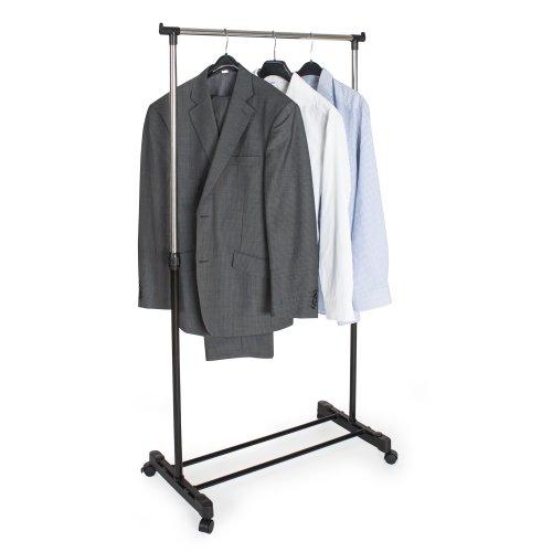 TecTake Kleiderständer Wäscheständer Garderobenständer auf Rollen ausziehbar