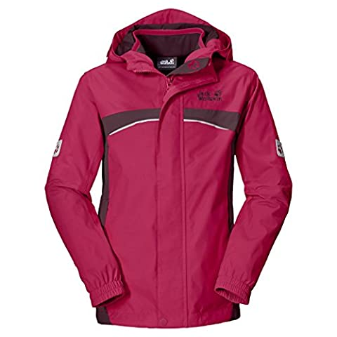 Jack Wolfskin Mädchen Topaz 3IN1 Girls 3-in-1 Jacke, Azalea Red, 140