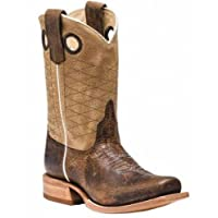 Anderson Bean Mens Choc Siletsofish Green Sensation Cowboy Boots 10.5 D Brown