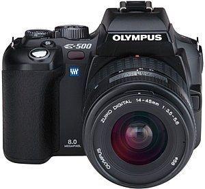 Olympus E-500 SLR-Digitalkamera (8 Megapixel) inkl. Zuiko Digital 14-45 mm Olympus Mini Digital