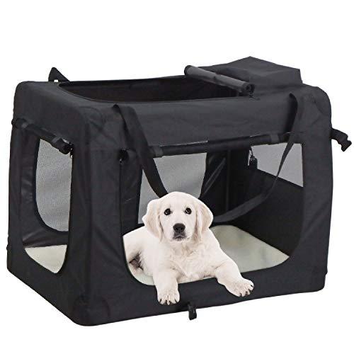 Mc star borsa per cane portatile pieghevole trasportino per cani animali domestici m 60 x 42 x 42 cm nero,blu