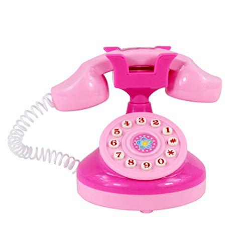 TaoNaisi Juguetes para niños de teléfono Los teléfonos Inteligentes con música Ligera de niños Juguetes Móviles Juego de imaginación Juguetes Rompecabezas Juguetes para Aprender Regalo (Rosa)