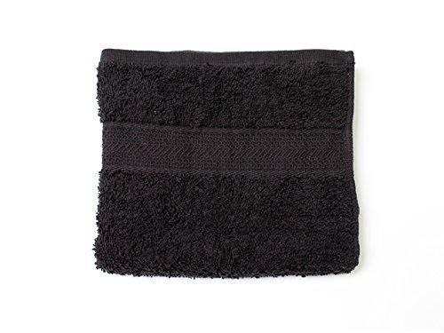 Soleil d'Ocre 431043 Serviette de Toilette Coton Noir 50x90 cm