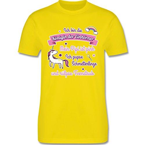 Statement Shirts - Königin der Einhörner - Herren Premium T-Shirt Lemon Gelb