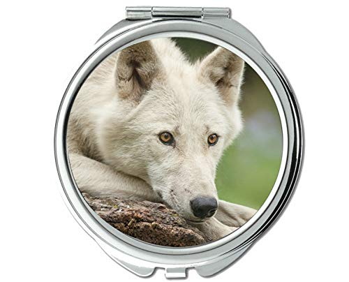 Yanteng Spiegel, Kleiner Spiegel, Tier, Wolf, liegender Taschenspiegel, 1 X 2X Vergrößerung