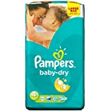 Couches Pampers Baby Dry Lot de 62 couches Taille 4