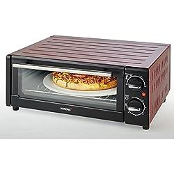 KORONA K57000 Pizza Mini-Four électrique, 1300 W, 15 liters, Noir/Rouge