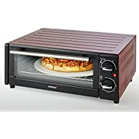 Korona 57000Horno de pizza, 15L, 1300W, color negro/rojo