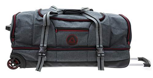 Reisetrolley Tasche 76x37x33cm Anthrazit Rot Doppeldecker mit Schuhfach Bowatex