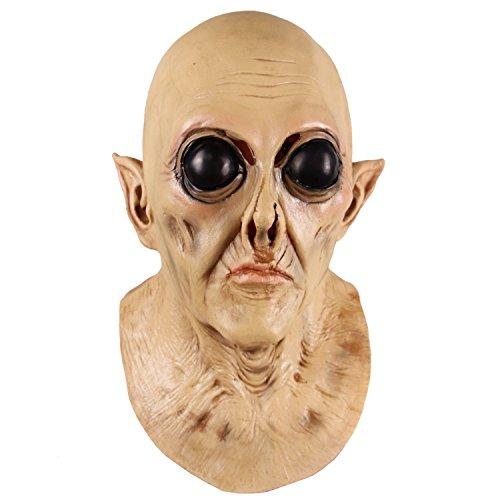 molezu Horror UFO Alien Maske, Latex Creepy Werden Maske, Halloween-Kostüm Party Dekoration ()