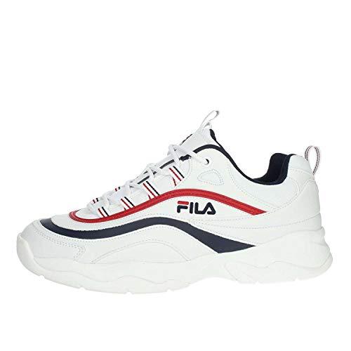 Fila Herren Ray Low 1010561-150 Sneaker, Weiß (White), 44 EU (Für Von Tennis-schuhe Herren Fila)