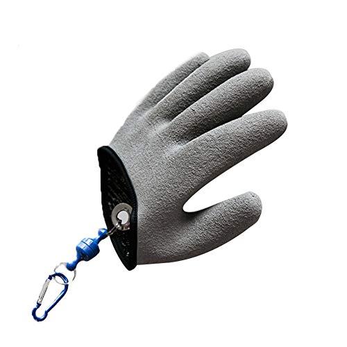 guanti da pesca ouken Guanto di Pesca con Magnete Antiscivolo Pesca Protezione Secure Device processo Strumento di Pescatore Professionista Pesce Caccia Guanto Sinistro M / 8in