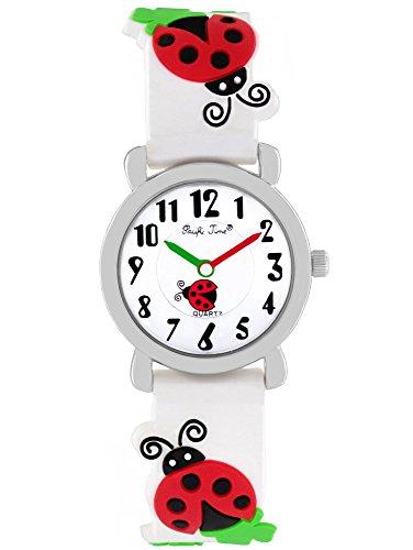 Pacific Time Mädchen Uhr analog Quarz mit Silikonarmband 20081