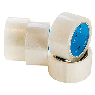 180 Rollen activaTape PP- Klebeband Paketband 48mm x 66lfm transparent light