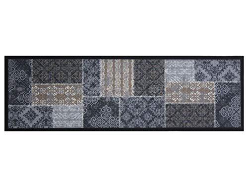 Primaflor - Ideen in Textil Küchenläufer Waschbar 50 x 150 cm Oriental Patch Taupe Schmutzfangläufer rutschfest, Küchenteppich, Küchenvorleger Teppich Läufer Flur