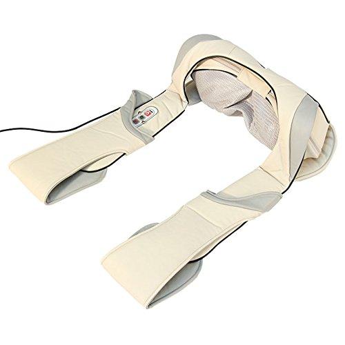 Preisvergleich Produktbild Shiatsu Massagegerät multifunktional,  auch für Schulter,  Rücken & Beine,  für's Auto,  im Büro und Zuhause - Bodynova Shiatsu Massager 599BG Nackenmassagegerät