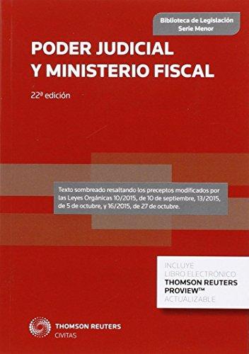 Poder judicial y ministerio fiscal (22ª ed.) (Biblioteca de Legislación - Serie Menor)