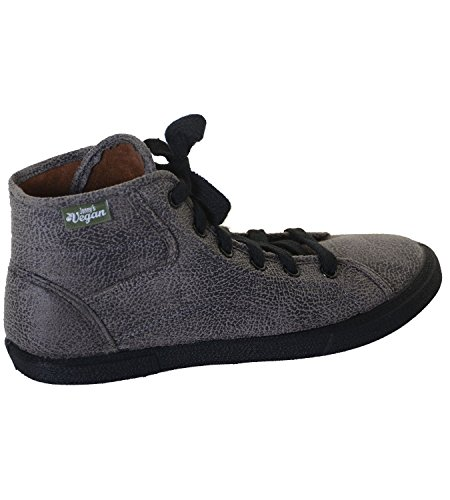 Jonny's Vegan Sneaker Halbhoch- Veganer Schuh Grau (Gris), Schuhgröße:42 D/EU - 2