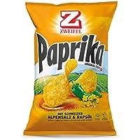 Zweifel Paprika Chips mit Schweizer Alpensalz & Rapsöl - 5er Pack - 5 x 175 g, 875 g