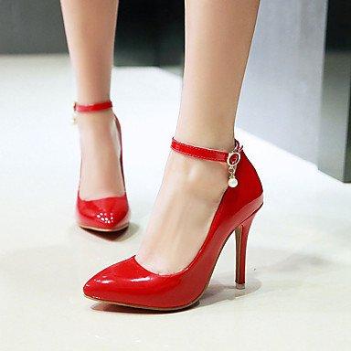 Wsx & Plm Femme-talons-bureau Et Travail Décontracté Soirée Et Soirée-autre-a Stiletto-pu (polyuréthane) -noir Rouge Blanc Tissu Amande Noir