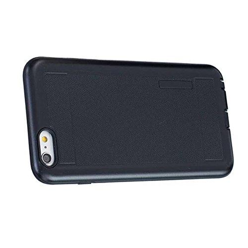 JIALUN-Telefon Fall Solid Color Shock Back Cover Telefon Fall für Apple IPhone 6S Plus 5,5 Zoll ( Color : Gray ) Black