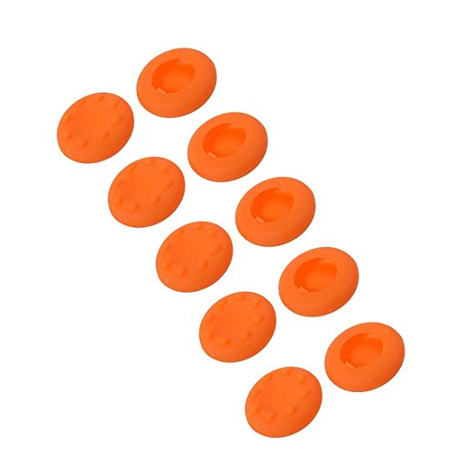 Stillshine Aufsätze Thumb Grip Stick Kappe CAPS für PS2, PS3, PS4, Xbox 360, Xbox One, Wii U Controller (Orange 10pc) (Ps2-gta 4)