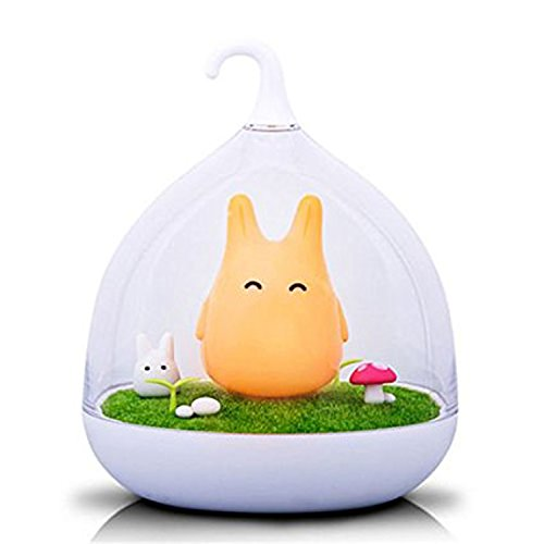 Leadleds Creative Micro Landschaft Mini Nachtlicht Vibration Birdcage Lampe Totoro Night Lights Laden für Kids, Baby, Geschenk zum Valentinstag, Weihnachten Geschenk, Geburtstag Geschenk Orange