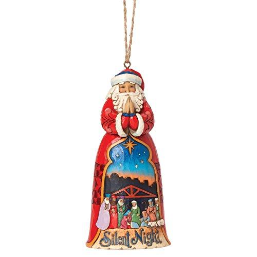 Hearwood Creek 4041107 Sospensione, Babbo Natale Santa Notte, Disegno di Jim Shore, 12 cm