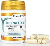 Probiotique formule 2019 pour votre Flore Intestinale - Enzymes Digestives avec 8 Souches concentrées en 1 Gélule par jour à prendre sur 1 Mois - THERAFLORE complément alimentaire fabriqué en France
