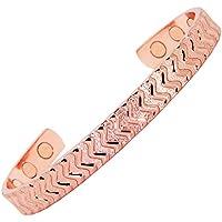 Magnetische Kupfer-Armbänder für Arthritis-Schmerzlinderung, Karpaltunnel, Sehnenscheidenentzündung, Tennisarm... preisvergleich bei billige-tabletten.eu