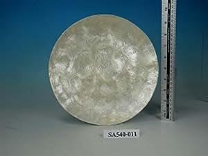 Fonction de Capiz assiettes de 25 cm de diamètre.