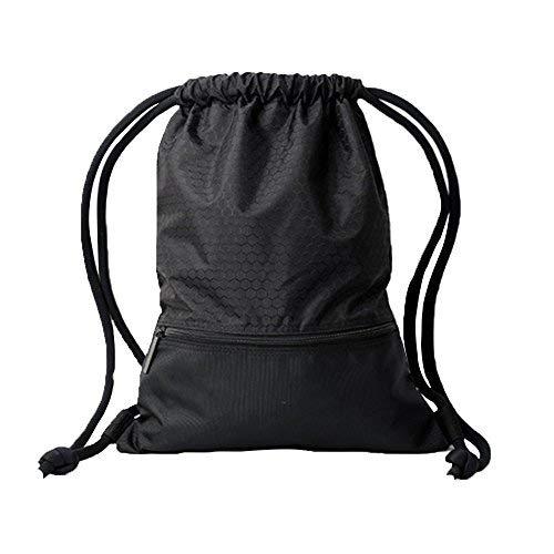 Candora® Turnbeutel Kordelzug-Rucksack Reißverschlusstasche Extra dicke Kordeln für Damen und Herren, Ideal für Schule, Sport, Strand, Bücher & Reise