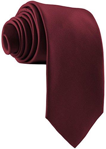 ADAMANT® Designer Krawatte, breit, verschiedene Farben - TOPQUALITÄT - Moderne uni Krawatten für Business und Alltag - Dunkelrot / Bordeaux / Rot / Bordo / Weinrot (Tragen Farbe-krawatte)