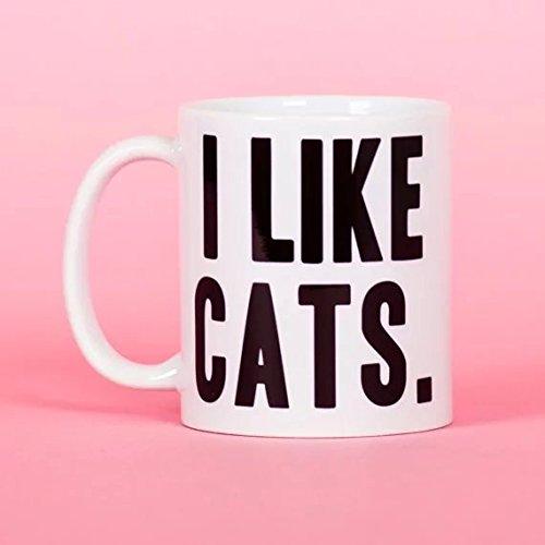 Cbuyncu i Like Cats Kitty Animal latte tazza da viaggio in ceramica Cup 311,8gram caffè caldo tè tazze personalizzati regalo per donne, uomini, ragazzi, lui, Lei, Dad, Son, Daughter, mamma, amici ufficio fornitura giorno di San Valentino