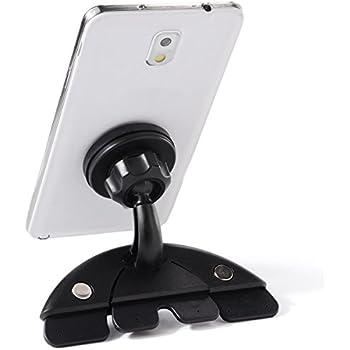 Xcellent Global Universal Magnetic CD Slot Car Mount Holder for iPhone 5/4s/5c/6/6 Plus, iPad Mini, Samsung Galaxy S Series, HTC, Motorola, Blackerry and All Smartphones/ Mini Tablets/ GPS, Black M-CA016