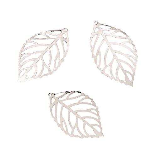 Baoblaze 100 Stück Hohl Filigrane Charms Blatt Anhänger Schmuck Finden DIY Handwerk - Weiß (Weiße Handwerks-taschen)