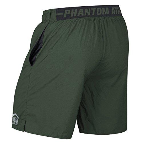 Phantom-Athletics-Tactic-Training-Shorts--Green--Functional-Trousers-Fitness-Sports-Leisure-Mens-Shorts